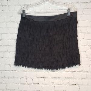 Express fringe black mini skirt 4